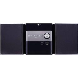 LG Electronics CM1560DAB Stereoanlage Bluetooth®, CD, USB, DAB+, Inkl. Lautsprecherbox 2 x 5W Schwa