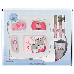 Geschirr-Set, Emmi Girl, 3-tlg rosa/weiß