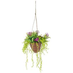 Kunstpflanze Hängeampel Senecio, Höhe 70 cm