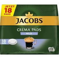Jacobs Pads Crema Mild, 90 Kaffeepads UTZ-zertifizierter Kaffee, 5er Pack, 5 x 18 Getränke