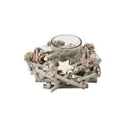 HTI-Living Teelichthalter Teelichthalter Holz Sterne
