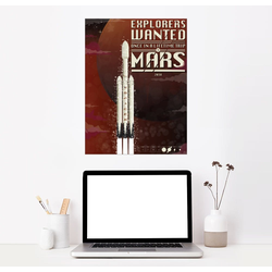 Posterlounge Wandbild, Spacex Mars Rackete 100 cm x 130 cm