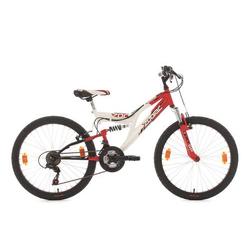 Kinderfahrrad Mountainbike Fully 24'' Zodiac rot-weiß RH38cm KSCycling