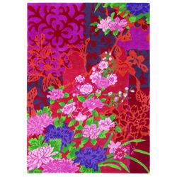 Blumenteppich Yara Garland 133300 (Rosa; 140 x 200 cm)