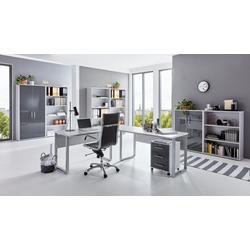 moebel-dich-auf Büromöbel-Set Office Edition, (Büromöbel abschließbar, Set 7) grau