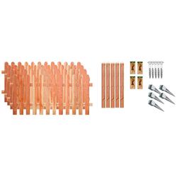 T&J Staketenzaun Austin 2, (Set), 4 Elemente, LxH: 765x80 cm