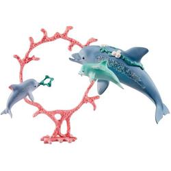 Schleich Delfin-Mama mit Babies 41463