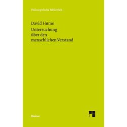 Eine Untersuchung über den menschlichen Verstand: Buch von David Hume