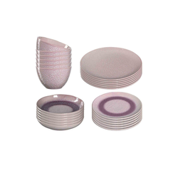 LEONARDO Geschirr-Set MATERA Geschirr Tafelservice rosa 24-teilig (24-tlg), Keramik