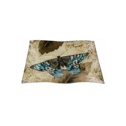 HTI-Living Dekoteller Dekoteller Butterfly Gold Welle (1 Stück) Ø 26 cm x 26 cm x 2 cm x 19 cm