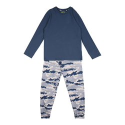 SANETTA Pyjama weiß / blau, Größe 164, 4999438