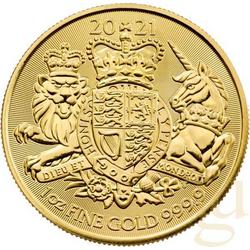1 Unze Goldmünze Großbritannien Royal Arms 2021