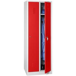 Spind mit Vorhängeschloss rot, Gürkan, 60x180x50 cm