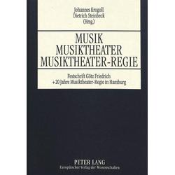 Musik - Musiktheater - Musiktheater-Regie als Buch von
