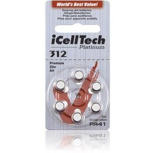 Hörgerätebatterien iCellTech Typ 312 - 30 Batterien