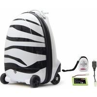 JAMARA Ferngesteuerter Koffer für Kinder, Kinderkoffer Zebra, 2,4GHz