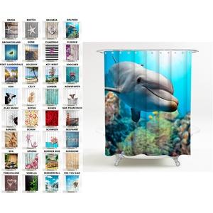 Sanilo Duschvorhang, viele schöne Duschvorhänge zur Auswahl, hochwertige Qualität, inkl. 12 Ringe, wasserdicht, Anti-Schimmel-Effekt (180 x 200 cm, Delphin)