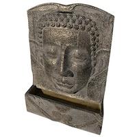 HEISSNER Gartenbrunnen Buddha grau