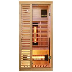 Dewello Infrarotkabine Hamlin Vollspektrum, BxTxH: 90 x 90 x 190 cm, 50 mm, für 1 Person