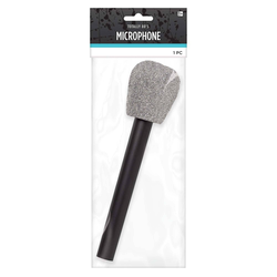 Halloween Adult Glitter Microphone Halloween Costume Accessory, Adult Unisex