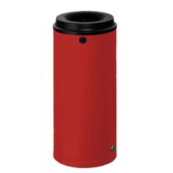 VAR Papierkorb 15 Liter, Mit Wandhalterung und Schloss, Farbe: rot