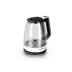 GOURMETmaxx Wasserkocher, 1.7 l, 360 Grad drehbar weiß/schwarz