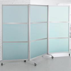 SCREEN Mobile Faltstellwand, 3-teilig, b100(280)xt2,4xh198cm