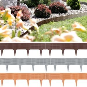 Deuba Rasenkante 3,9m Braun Beeteinfassung Zaun Optik Beetumrandung Mähkante Randsteine 1 Element (LxH): 78cm x 18,65cm