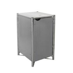 Hide Mülltonnenbox 140l Kunststoff; 1er Box, grau