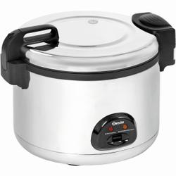 Bartscher Reiskocher, 12 Liter, Inkl. einem Messbecher, Reislöffel und Rührlöffel, Maße: B 560 x T 465 x H 400 mm