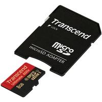 Transcend microSDHC 8GB Class 10 UHS-I 600x + SD-Adapter