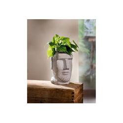 HomeLiving Blumentopf Gesicht weiß