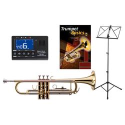 Classic Cantabile TR-39 Bb-Trompete SET mit Stimmgerät/Metronom, Notenständer und Trompetenschule