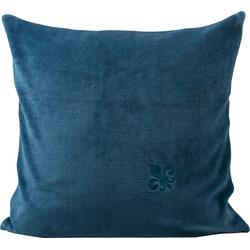 Gözze Dekokissen Fleur de Lys, veredelt durch eine exklusive Stickerei blau