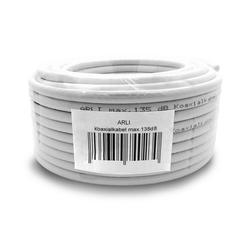 ARLI TV SAT Koax Kabel Koaxialkabel max. 135 dB TV-Kabel, (1000 cm), 10 m / 10m 1000 cm