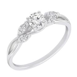 Goldener Verlobungsring mit Diamanten Halym
