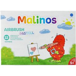 Malinos Airbrush Pastell, 12 Stifte + 8 Schablonen