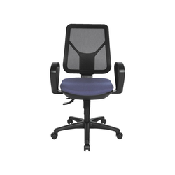 TOPSTAR Schreibtischstuhl Ergo Net mit Bandscheibensitz blau