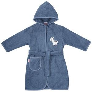 Damenbademantel Kinder-Bademantel, Sterne grau, 98/104, Wörner blau 86/92