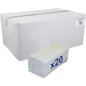 Papierhandtücher 1-lagig 25x23 grau Zick-Zack-Falz 5000 Stück