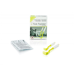 Tick Twister by OTom Zeckenhaken mit Silikongriff 2 Stück Multicolor im Karton