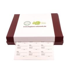 Wasserlösliche Etiketten, DINA4, Komplett biologisch auflösbar, 1 Box = 100 Blatt