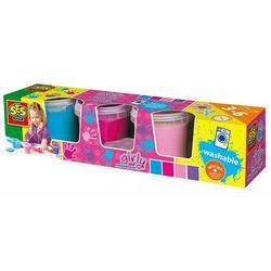 SES Creative® Fingerfarbe Girly, 4 Farben