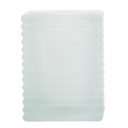Kerzenglas für Refill Kerzen / Teelichteinsatz, Milchig, 72x72 mm/H 98 mm, 1 Stück