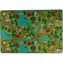 Kinderteppich Camping, Living Line, rechteckig, Höhe 7 mm, Straßen-Spielteppich, Camping Motiv 95 cm x 200 cm x 7 mm
