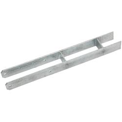 RAMSES H-Pfostenanker , 71x600 mm Stahl feuerverzinkt grau