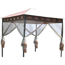LECO Moskitonetze zum Pavillon Safari, 4er-Set