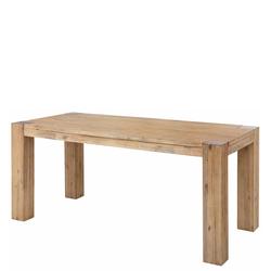 Vollholztisch aus Akazie Massivholz White Wash Optik