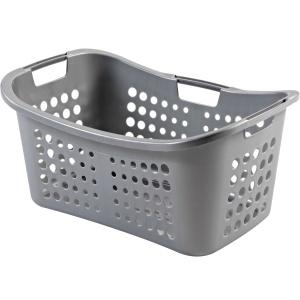 CURVER VICTOR Wäschekorb , Wäschebehälter aus Kunststoff, Farbe: silber