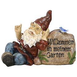 """Dehner Dekofigur Gartenzwerg """"Willkommen"""", 30 x 13 x 22 cm"""